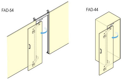 FAD-54 Lateral Opening Door System - Alema Hardware