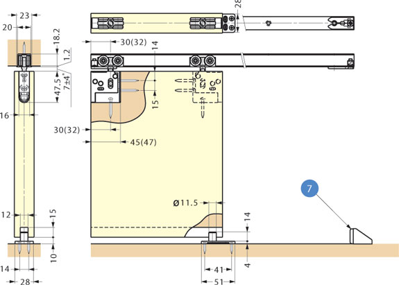 Fd30hhp Sliding Door System Recessed Type Alema Hardware