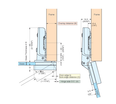 G230-C32/19T CONCEALED HINGE schematic