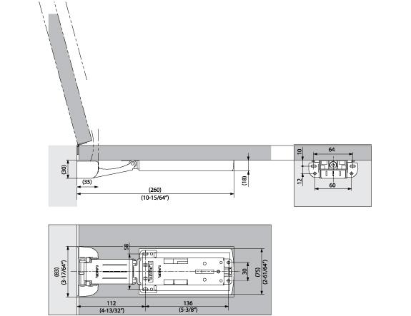LAD-H Lift Assist D&er schematic  sc 1 st  Alema Hardware & LAD-H Lift Assist Damper - Alema Hardware