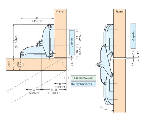 T 90 200 Concealed Hinge Alema Hardware
