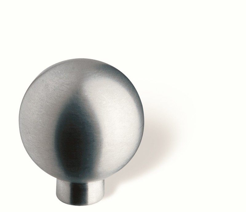 44-156 Siro Designs Stainless Steel - 28mm Knob in Fine Brushed Stainless Steel