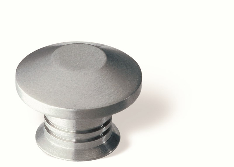 44-162 Siro Designs Stainless Steel - 30mm Knob in Fine Brushed Stainless Steel