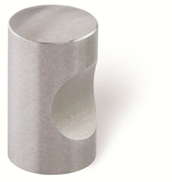 44-173 Siro Designs Stainless Steel - 15mm Knob in Fine Brushed Stainless Steel