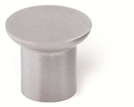 44-320 Siro Designs Stainless Steel - 20mm Knob in Fine Brushed Stainless Steel