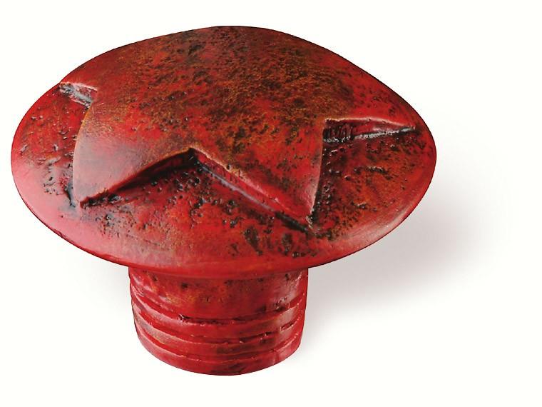 80-146 Siro Designs Fantasia - 40mm Knob in Antique Red