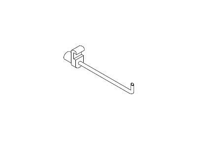 EX053-20 FLUQS hooks for glass panel 3mm