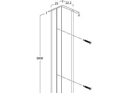 EX901-21 FLUQS corner angle