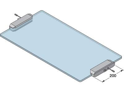 XL-US01-S200L-C Shelf Clamp for GLASS Shelf with LED