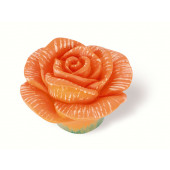 101-100 Siro Designs Flowers - 50mm Knob in Orange Rose