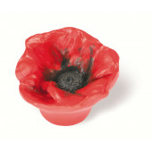101-102 Siro Designs Flowers - 50mm Knob in Red Poppy