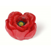 101-104 Siro Designs Flowers - 50mm Knob in Red/Yellow Poppy