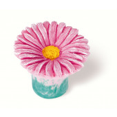 101-108 Siro Designs Flowers - 38mm Knob in Pink Daisy