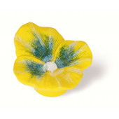 101-114 Siro Designs Flowers - 50mm Knob in Yellow Pansey