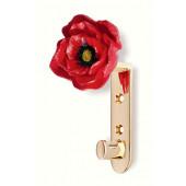 101-118 Siro Designs Flowers - 124mm Hook in Bright Brass/Poppy