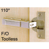 1065083 Clip-On 110 Degree Concealed Hinge – Full Overlay / Toolless TH Cup