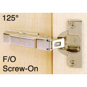 1070715 Clip-On 125 Degree Concealed Hinge – Full Overlay / Screw-On