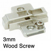 1071727 3mm Cam Height Adjustable Clip-On Mounting Plate – For Wood Screw
