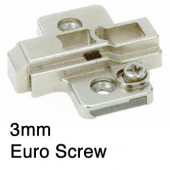 1071747 3mm Cam Height Adjustable Clip-On Mounting Plate – For Euro Screw