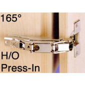 1073407 Clip-On 165 Degree Concealed Hinge – Half Overlay / Press-In