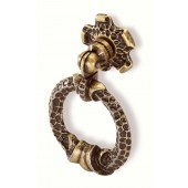 59-124 Siro Designs Evangeline - 45mm Ring Pull in Antique Brass