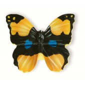 72-100 Siro Designs Butterflies - 40mm Knob in Black/Yellow W/Blue Dots & Stripes