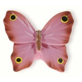 72-102 Siro Designs Butterflies - 41mm Knob in Pink W/Black & Yellow Dots & Stripes