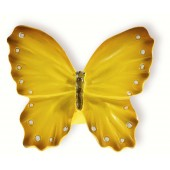 72-104 Siro Designs Butterflies - 41mm Knob in Yellow w/White Dots & Stripes