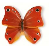 72-106 Siro Designs Butterflies - 47mm Knob in Red Orange W/Blk/Wht Dots&Stripes