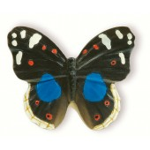 72-108 Siro Designs Butterflies - 40mm Knob in Black/Blue/White/Red