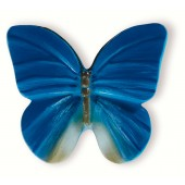 72-110 Siro Designs Butterflies - 42mm Knob in Blue With Grey