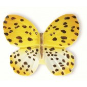72-112 Siro Designs Butterflies - 40mm Knob in Yellow W/ Brown Dots & Stripes