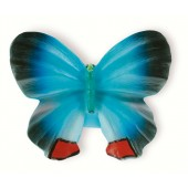 72-116 Siro Designs Butterflies - 40mm Knob in Blue/Navy/Red