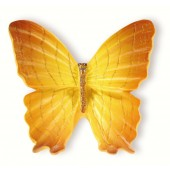 72-118 Siro Designs Butterflies - 42mm Knob in Yellow With Light Brown