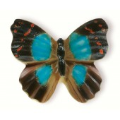 72-120 Siro Designs Butterflies - 42mm Knob in Brown/Blue/Red
