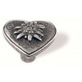 78-112 Siro Designs Edelweiss - 34mm Knob in Antique Tin