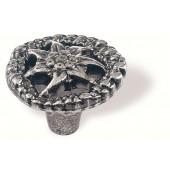 78-124 Siro Designs Edelweiss - 35mm Knob in Antique Tin