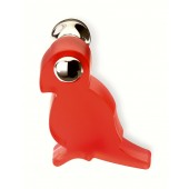 80-114 Siro Designs Fantasia - 49mm Knob in Red/Bright Chrome
