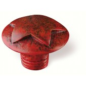 80-146 Siro Designs Fantasia - 40mm Knob in Antique Red