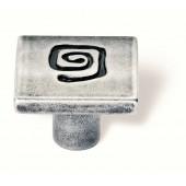 86-102 Siro Designs Pueblo - 25mm Knob in Antique Iron