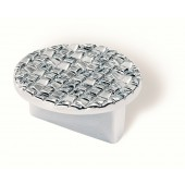 90-160 Siro Designs Mosaic - 50mm Pull in Bright Chrome