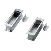 HH-P135/DC Recessed Pull w/ Door Stopper (Dull Chrome)