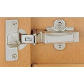 077721 Clip-On 125 Degree Concealed Hinge for -45 Degree Negative Face Angle – Full Overlay / Press-In