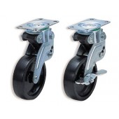 KPG-100BUS-3 SHOCK ABSORBING CASTER (PLATE TYPE)