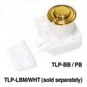 TLP-BB/PB Push Knob and Base (Polished Brass)